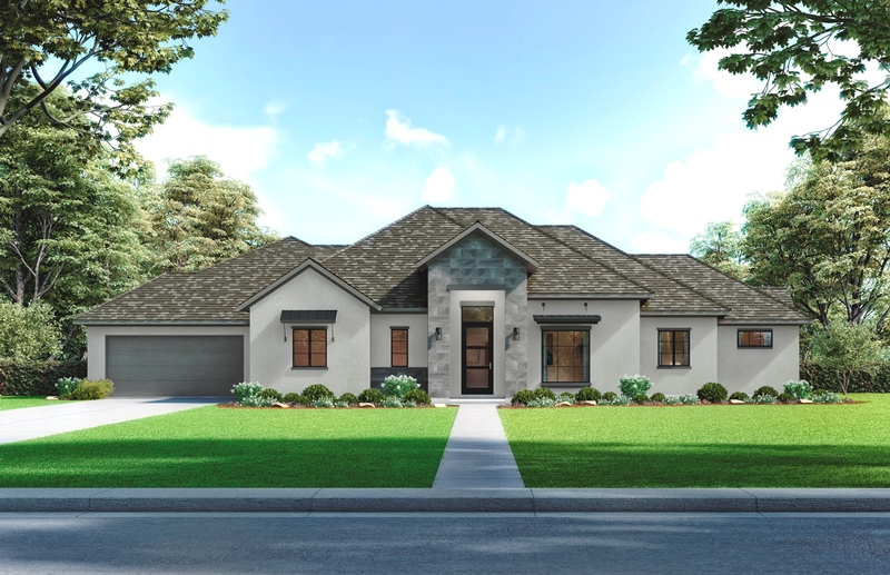9227 Fox Bend front elevation