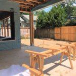 616 Redan patio and yard--progress photo