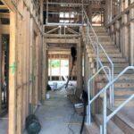 616 Redan staircase--progress photo