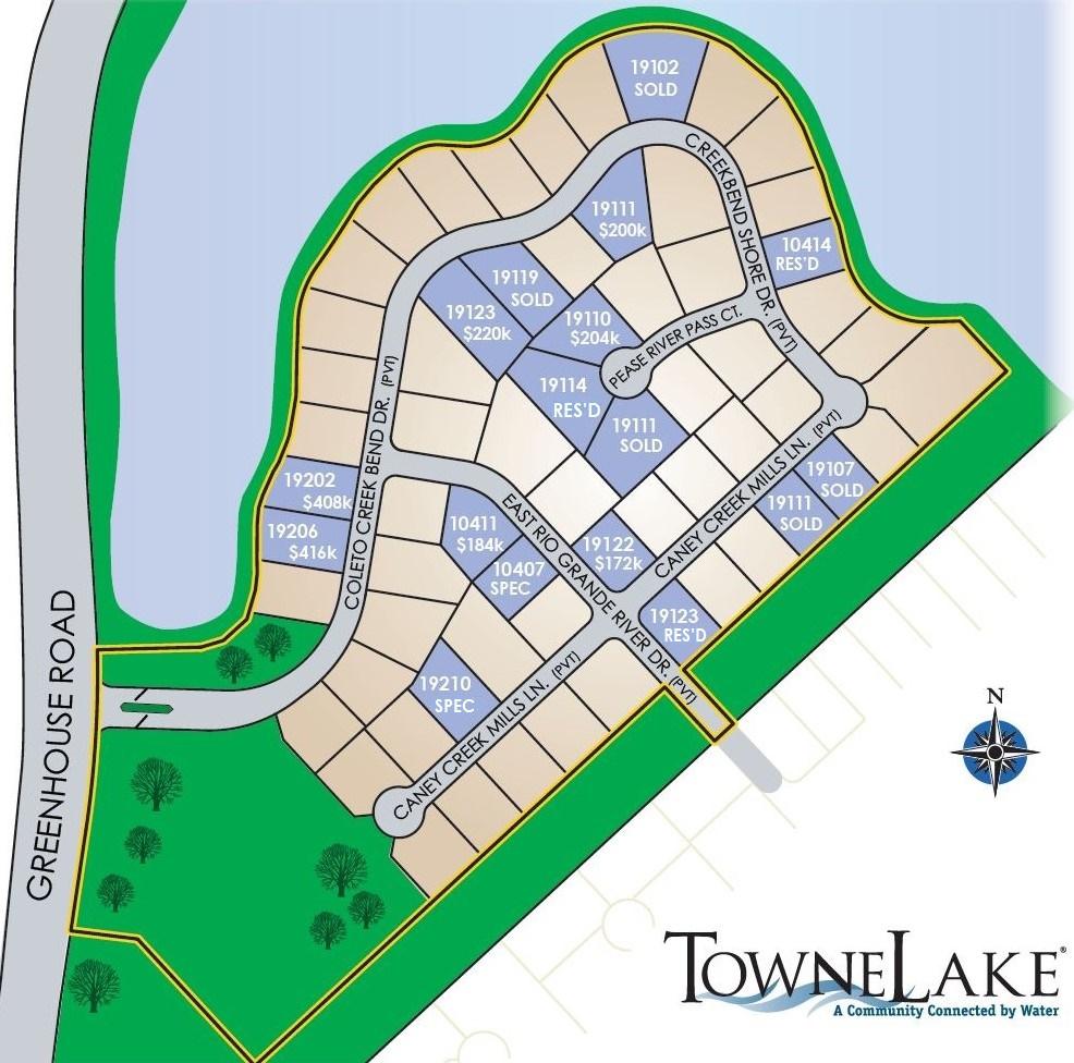 Towne Lake map